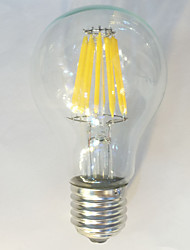 abordables -E26/E27 Ampoules à Filament LED A60(A19) 12 diodes électroluminescentes COB Imperméable Décorative Blanc Chaud Blanc Naturel 1050lm 2700K