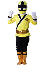 cheap -Power Rangers Cosplay Costume Movie Cosplay Yellow Top Gloves Belt More Accessories Halloween New Year Polyester