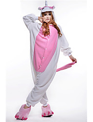 abordables -Pyjamas Kigurumi Unicorn Combinaison de Pyjamas Costume Polaire Rose Cosplay Pour Adulte Pyjamas Animale Dessin animé Halloween Fête /