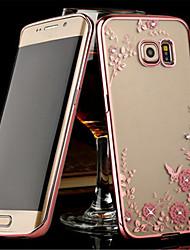 economico -Per Samsung Galaxy Note Transparente Custodia Custodia posteriore Custodia Fiore decorativo TPU Samsung Note 5 / Note 4 / Note 3
