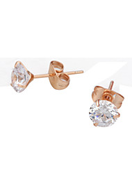 cheap -Women's Cute Crystal Cubic Zirconia Imitation Diamond 2pcs - Vintage Party Work Silver Rose Gold Earrings For Daily