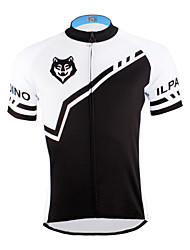 cheap -ILPALADINO Men's Short Sleeve Cycling Jersey - Black / Black with White Bike Jersey, Quick Dry, Ultraviolet Resistant, Breathable