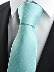 cheap -New White Dot Mint Blue JACQUARD Mens Tie Necktie Wedding Party Suit Gift KT0004
