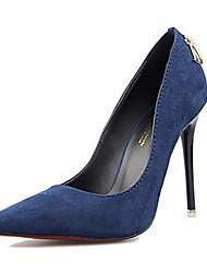cheap -Women's Shoes Suede Spring / Summer Stiletto Heel Green / Khaki / Royal Blue / Dress / Party & Evening / Dress / Party & Evening