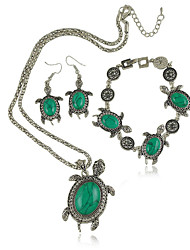 Jewelry Set Women's Anniversary / Engagement / Gift / Party / Daily Jewelry Sets Alloy Turquoise Necklaces / Bracelets / EarringsBlack /
