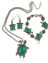 Ensemble de bijoux Femme Anniversaire / Fiançailles / Cadeau / Sorée / Quotidien Parures Alliage TurquoiseColliers décoratifs / Bracelets