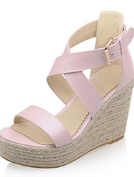 cheap -Women's Shoes Wedges Heels/Platform/Open Toe Sandals Dress Blue/Pink/White