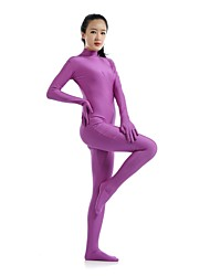 cheap -Zentai Suits Ninja Zentai Cosplay Costumes Purple Solid Colored Leotard / Onesie Catsuit Zentai Spandex Lycra Men's Women's Halloween