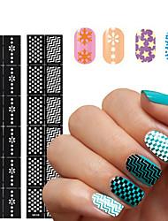 1 Autocollant d'art de clou Manucure Pochoir Moules 3D en  acrylique pour ongles Fleur Maquillage cosmétique Nail Art Design