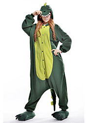 Kigurumi Pajamas New Cosplay® Dinosaur Leotard/Onesie Festival/Holiday Animal Sleepwear Halloween Green Patchwork Polar Fleece Kigurumi
