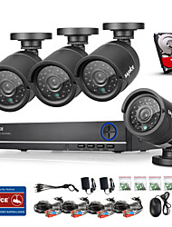 cheap -SANNCE® 4CH AHD DVR 4PCS 720P IR 4 CH Security DVR Recorder Home Security Surveillance Kits CCTV System