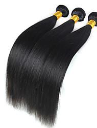 baratos -Cabelo Peruviano Liso Tramas de cabelo humano 3 Peças Cabelo Humano Ondulado
