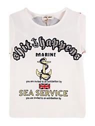 preiswerte -Jungen T-Shirt Baumwolle Sommer Kurzarm Zeichentrick Weiß