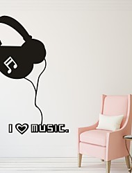 cheap -Fashion Music Wall Stickers Plane Wall Stickers Decorative Wall Stickers, Vinyl Home Decoration Wall Decal Wall