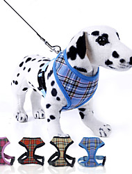 preiswerte -Hund Geschirre / Leinen Regolabile / Einziehbar Plaid / Karomuster Nylon Rose / Rot / Blau