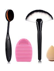 maquiagem escova de ovo em pó escova de lavagem escova de limpeza e esponja de maquiagem tamanho pequeno