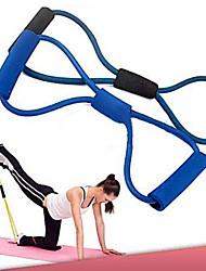 Недорогие -тренировка сопротивление полосы каната трубки тренировки упражнения для йоги 8 типа пригодности способа тела (случайный цвет)