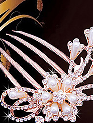 cheap -Imitation Pearl Hair Combs Hair Tool Headpiece Classical Feminine Style