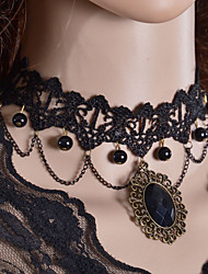 Women's Choker Necklaces Torque Gothic Jewelry Lace Fabric Fashion Jewelry For Wedding Party Daily Casual