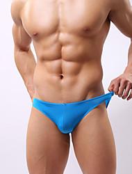 abordables -Hombre Sexy Slip Un Color Baja cintura