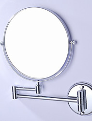 cheap -360 Degree Rotating 2X Magnifying Antique Brass Plating Finished 8-inch Solid Stainless Steel Wall Mount Cosmetic Mirror