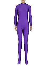 cheap -Zentai Suits Ninja Zentai Cosplay Costumes Cyan Solid Leotard/Onesie Zentai Spandex Lycra Unisex Halloween