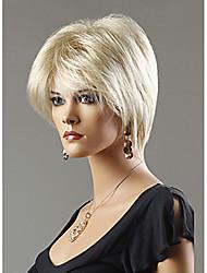 女性 人工毛ウィッグ キャップレス ショート丈 ストレート ナチュラルウィッグ コスチュームウィッグ