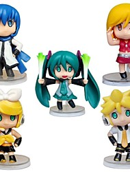 cheap -Anime Action Figures Inspired by Cosplay Hatsune Miku PVC 5 CM Model Toys Doll Toy