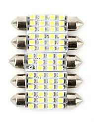 5pcs гражданский автомобиль водить 6w ширина лампы номерного знака автомобиля лампы автомобиля лампа для чтения белый цвет