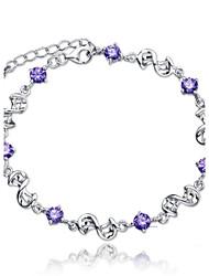 abordables -Femme Chaînes & Bracelets Argent sterling Infini Bijoux Mariage Soirée Quotidien Décontracté Bijoux de fantaisie Blanc Violet