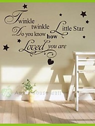 Twinkle Little Star Wall Sticker Home Decoration Diy Kids Home Removable Wall Art Decal Wall Stickers Vinilos Paredes