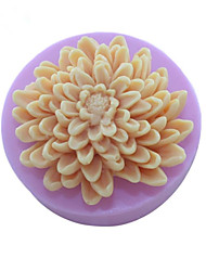 cheap -Chrysanthemum Flowers  Soap Mold  Fondant Cake Chocolate Silicone Mold,Decoration Tools Bakeware