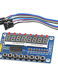 cheap -8-Bit LED 8-Bit Digital Tube 8 KeyS TM1638 Display Module for AVR  Arduino ARM