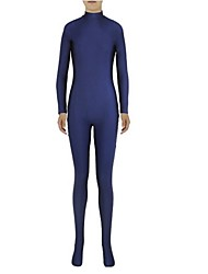 cheap -Zentai Suits Ninja Zentai Cosplay Costumes Ink Blue Solid Colored Leotard / Onesie Zentai Spandex Lycra Men's Women's Halloween