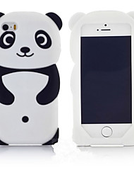 New Most Popular Cute 3D Panda Silicone Back Soft Phone Case Protective Cover Skin For Apple iPod touch 6/5