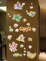 Y0019 home decoration fashion luminous fluorescent stickers wall stickers   dolphin Octopus wall decor