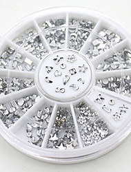 cheap -Fashion DIY Transparent Diamante Rhinestone Crystal Nail Art Decal Tips Glitters Stickers