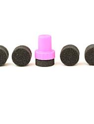1 комплект поделки 1 Стампер + 4 изменчива губка ногтей дизайн передача тень Стампер