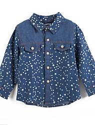 preiswerte -Mädchen T-Shirt Baumwolle Frühling / Herbst Blau
