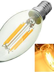 baratos -1pç 3000-6500 lm E14 Lâmpadas de Filamento de LED Encaixe Embutido 4 leds COB Decorativa Branco Quente Branco Frio AC 220-240V