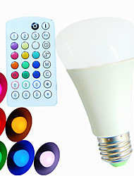 E26/E27 LED Globe Bulbs A60(A19) 3 High Power LED 550 lm RGB RGB K Dimmable Sound-Activated Remote-Controlled Decorative AC 100-240 V