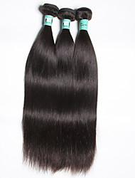 Cheveux bruns bruns 3 paquets total de 300g extensions de tissus de cheveux humains vierges non transformés