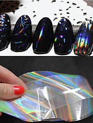 cheap -6pcs New Transparent Nail Art Foils 4cmX100cm Starry Sky Glitter Nail Transfer Sticker Paper Manicure Nail Tools