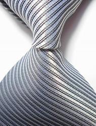economico -cravatta in tessuto jacquard con cravatta a righe da uomo e da sera
