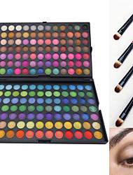168 Lidschattenpalette Trocken Matt Schimmer Lidschatten-Palette Puder GroßAlltag Make-up Feen Makeup Cateye Makeup Smokey Makeup