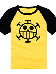 Inspired by One Piece Trafalgar Law Anime Cosplay Costumes Cosplay T-shirt Print Short Sleeves Coat For Male Female