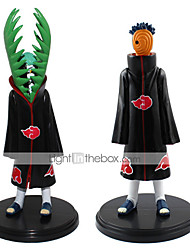 New Hot Sale 2pcs/Set Anime Figure PVC Toys Naruto Akatsuki Zetsu Uchiha Madara 19CM Collectible Kids Toys Gifts