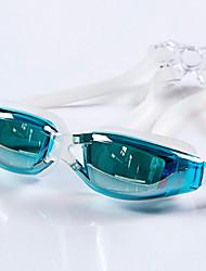 YUKE Lunettes de natation Femme Homme Unisexe Antibrouillard Etanche Taille ajustable Anti UV Gel de silice PolycarbonateIncarnadin Gris