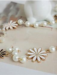 Недорогие -Жен. форма Мода Простой стиль Заявление ожерелья Сплав Заявление ожерелья Бижутерия