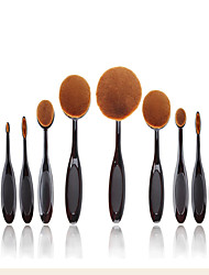 cheap -2016 New 10 Pcs Soft Oval Toothbrush Makeup Brush Sets Foundation Brushes Cream Contour Powder Blush Concealer Brush Cream Cosmetic Puff Batch